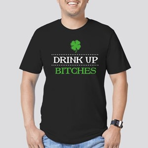 Drink Up Bitches Men's Fitted T-Shirt (dark)