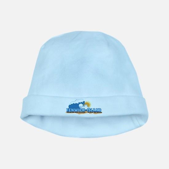 Fenwick Island DE - Waves Design baby hat