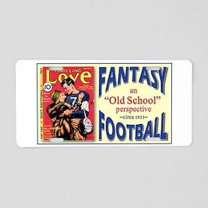 Old School Fantasy Football Aluminum License Plate