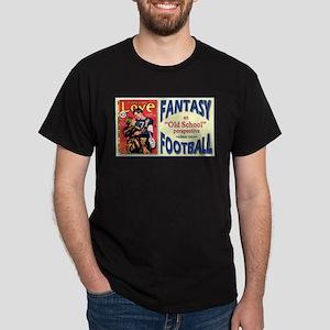 Old School Fantasy Football Dark T-Shirt