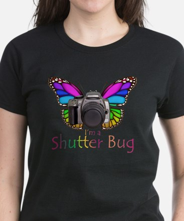Shutter Bug Women's Dark T-Shirt