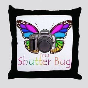 Shutter Bug Throw Pillow