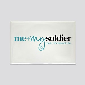 Me + My Soldier Rectangle Magnet