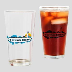 Fenwick Island DE - Surf Design Drinking Glass
