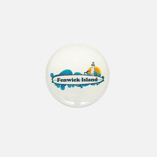 Fenwick Island DE - Surf Design Mini Button