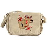 Kokopelli Gambler Messenger Bag