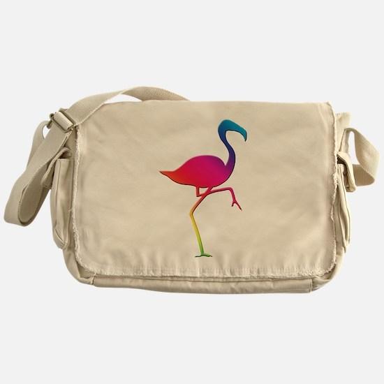 Rainbow Flamingo Messenger Bag