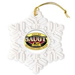 SAUGYLOGO Snowflake Ornament