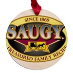 SAUGYLOGO Maple Round Ornament
