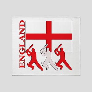 England Cricket Throw Blanket