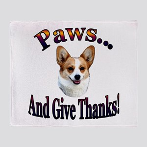 Paws and Give Thanks-Dott Throw Blanket
