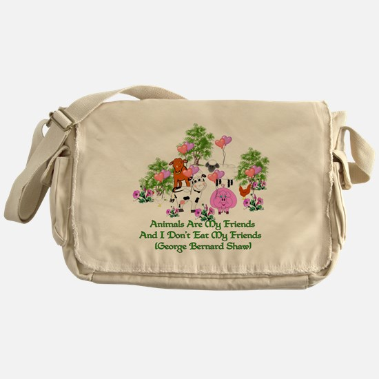 Shaw Anti-Meat Quote Messenger Bag