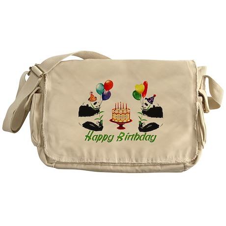 Birthday Pandas Messenger Bag