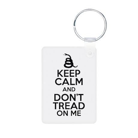 Keep Calm and DTOM Aluminum Photo Keychain
