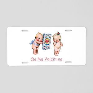 Be My Valentine Aluminum License Plate