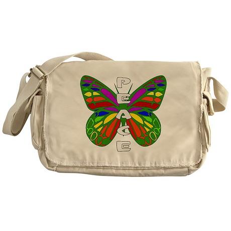 Peace Butterfly Messenger Bag