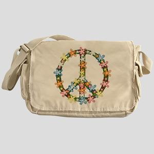 Peace Flowers Messenger Bag