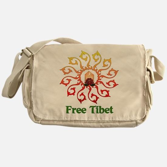 Free Tibet Candle Messenger Bag