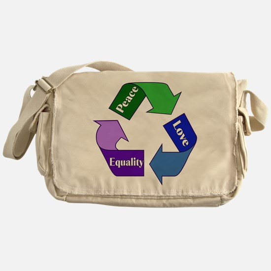 Peace Love Equality Messenger Bag