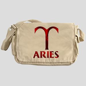 Red Aries Symbol Messenger Bag