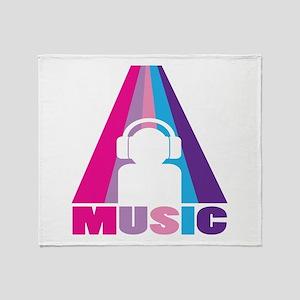 Headphone Music Throw Blanket