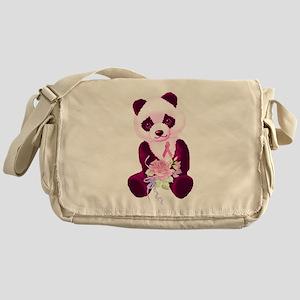 Breast Cancer Panda Bear Messenger Bag