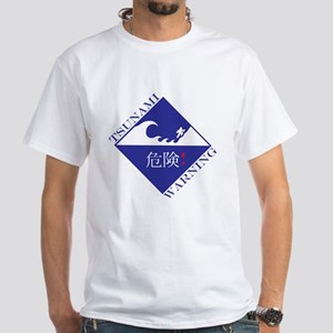 tsunami warning White T-Shirt