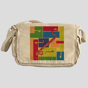 Bass Clarinet Colorblocks Messenger Bag