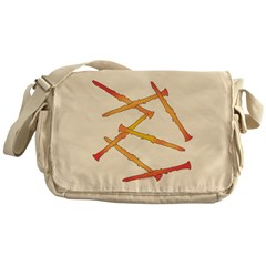 Fiery Clarinets Messenger Bag