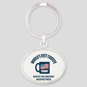 Trump Covfefe Oval Keychain