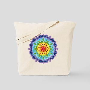 Crown Chakra Mandala Tote Bag