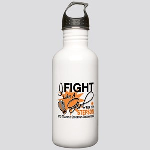 Fight Like A Girl For My MS Stainless Water Bottle