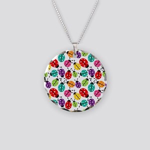 Lots of Crayon Colored Ladyb Necklace Circle Charm