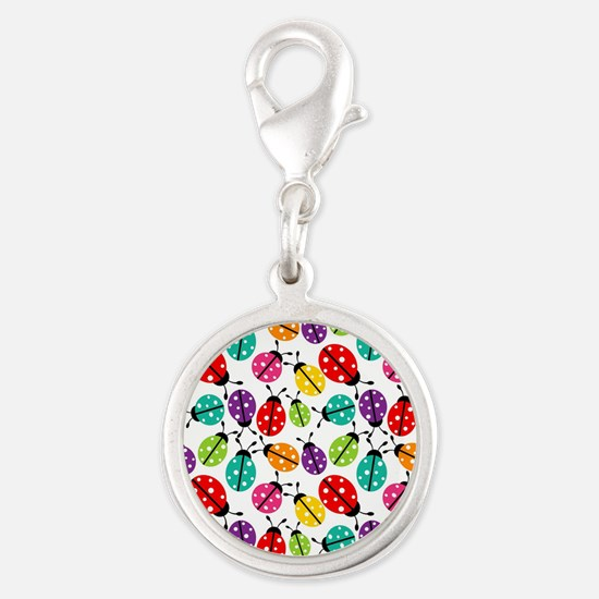 Lots of Crayon Colored Ladybugs Charms