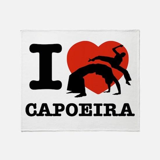 I love Gapoeira Throw Blanket