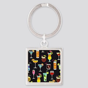 It's 5 O'Clock Somewhere Cocktails Keychains
