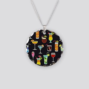 It's 5 O'Clock Somewhere Coc Necklace Circle Charm