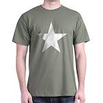 White 5-Pointed Star Dark T-Shirt