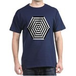 Striped Hexagon Dark T-Shirt