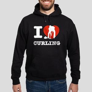 I love Curling Hoodie (dark)