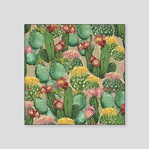 Assorted Blooming Cactus Plants Sticker