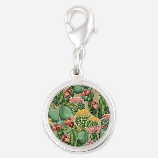 Assorted Blooming Cactus Plants Charms