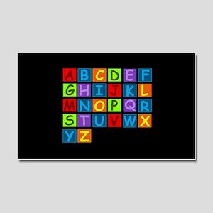 Rainbow ABC's Car Magnet 20 x 12