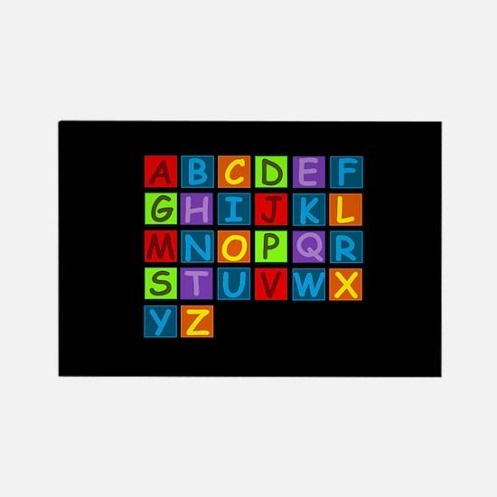 Rainbow ABC's Rectangle Magnet