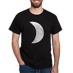 Silver Moon Crescent Dark T-Shirt