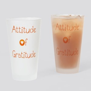 Attitude of Gratitude Drinking Glass