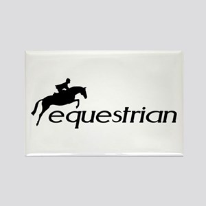 hunter/jumper equestrian Rectangle Magnet
