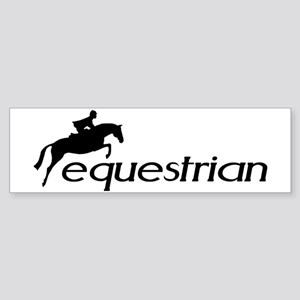 hunter/jumper equestrian Bumper Sticker