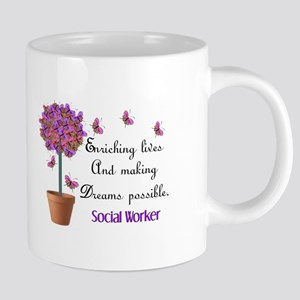 Social worker butterfly tre 20 oz Ceramic Mega Mug
