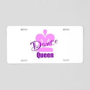 Dance Queen Aluminum License Plate
